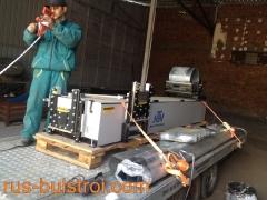 Мобилна машина за производство на безшевни улуци на самия обект