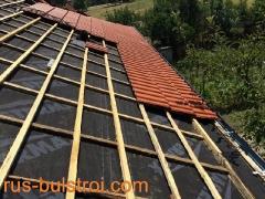 Ремонт на покрив на къща с керемиди в Мартен