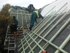 Ремонт на покрив с керемиди на частен дом в гр. Зеле - Белгия_2
