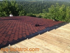 Ремонт на покрив с битумни керемиди на къща в село Писанец_1