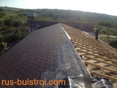 Ремонт на покрив с битумни керемиди на къща в село Писанец_2