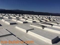 Ремонт на покрив и фонари с PVC мембрана в Кърнаре.