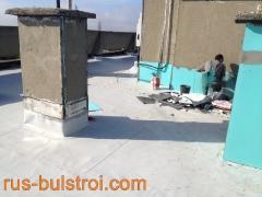 Ремонт на покрив с PVC мембрана на блок 54 - Русе_1