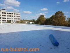 Ремонт на покрив с PVC мембрана на завод Латекс - Бяла