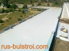 Ремонт на покрив с PVC мембрана на покрив на Светлина - Сливен_1