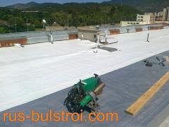 Ремонт на покрив с PVC мембрана на покрив на Светлина - Сливен_2