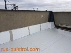 Ремонт на покрив с PVC мембрана на жилищен блок в Русе