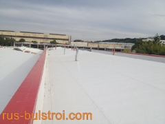 Топлоизолация и хидроизолация с PVC мембрана на покрива на шивашка фирма в Плевен_2