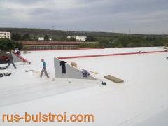 Топлоизолация и хидроизолация с PVC мембрана на покрива на шивашка фирма в Плевен_3