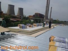 Топлоизолация и хидроизолация с PVC мембрана върху LT ламарина на покрив на Изома - Русе_1