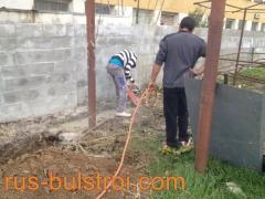 Полагане на водопровод на обект в Русе