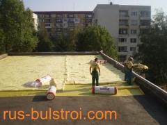 Топлоизолация на покрив преди полагане на хидроизолационна мембрана