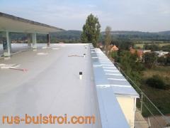 Ремонт на покрив с PVC мембрана в Прага - Чехия_3