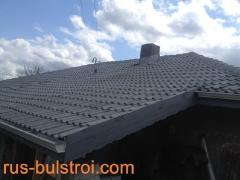 Ремонт на покрив с керемиди на къща в село Гарван_1