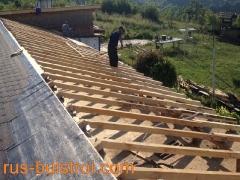 Ремонт на покрив с битумни керемиди на къща в село Писанец_3