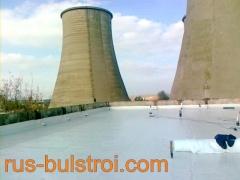 Ремонт на покриви на ТЕЦ - Русе с PVC мембрана_1