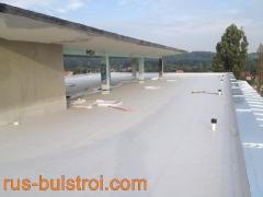 Ремонт на покрив с PVC мембрана в Прага - Чехия_1