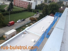 Ремонт на покрив с PVC мембрана в Прага - Чехия_2