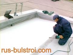 Ремонт на покрив с PVC мембрана на покрив на SOMAT - Русе_1