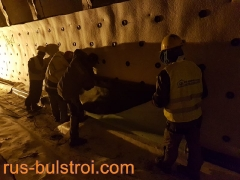Хидроизолация с PVC мембрана на тунел Витиня